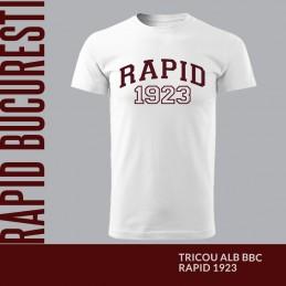 Tricou alb bumbac Rapid 1923