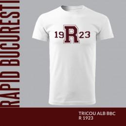 Tricou alb bumbac R1923