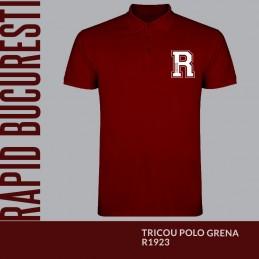Tricou Polo grena R1923